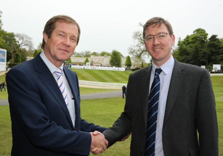 The European Tour Chief Executive George O'Grady and Jonathan Smith, CEO of Golf Environment Organisation at the launch of The European Tour Green Drive (©Getty Images)