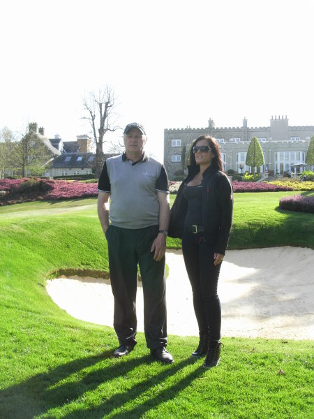 Kenny Mackay and Penny Long in front of the Wentworth Practice Bunker