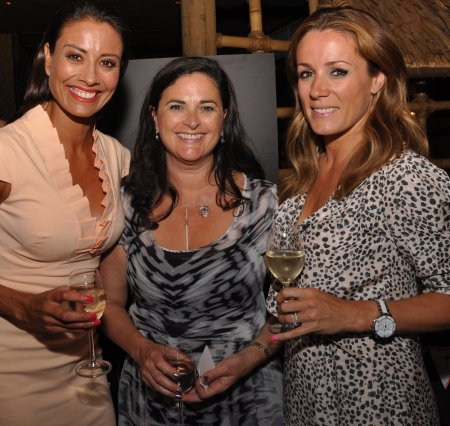 Lynx Golf UK managing partner, Stephanie Zinser (centre) with TV presenters Melanie Sykes (left) and Natalie Pinkham (right) at the recent party to launch the new Boom Boom 2 driver