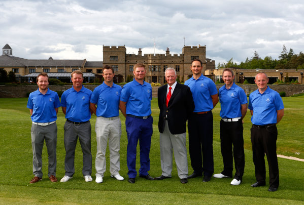 Nicholas Brennan, Jonathan Barnes, Benn Barham, Gareth Wright, Russell Weir (PGA Cup captain), David Callaway, Graham Fox and Dan Greenwood (courtesy of Paul Thomas at Getty Images)