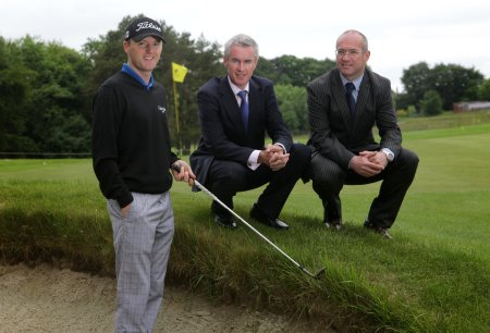Michael Hoey, Terry Robb, Head of Business Centre, Ballymena Ulster Bank and Neil Cooke Regional Manager Private Banking NI , Ulster Bank