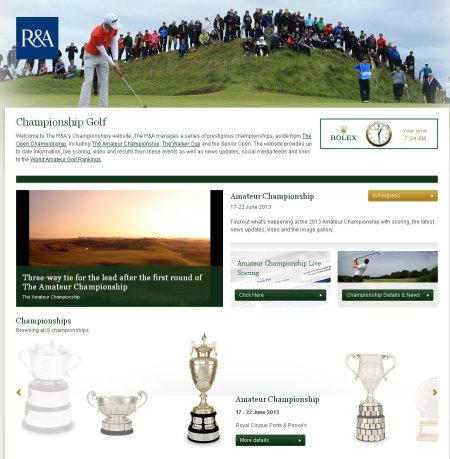 R&A Championship microsite