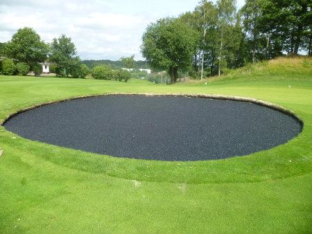 Blinder Bunker installation at Sankt Jorgen Golf Resort, Sweden