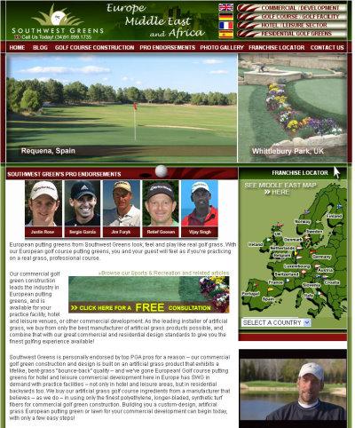 Southwest Greens Europe website