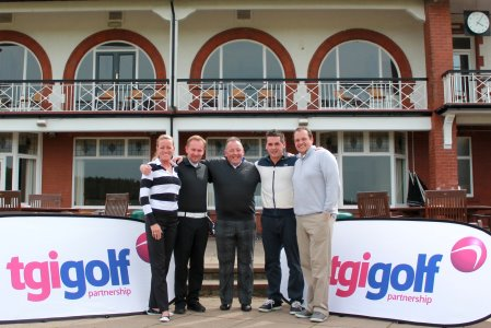 The winning team from TGI Golf's Northern England event at Fairhaven. From left: Marie Olsson, Simon Squires, Eddie Reid, Ben Rhodes and TGI Golf Partner Sean Wright