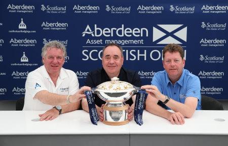 Martin Gilbert, Chief Executive Officer of Aberdeen Asset Management; Rt Hon Alex Salmond MSP, the First Minister of Scotland; and Peter Adams, Championship Director of the Aberdeen Asset Management Scottish Open