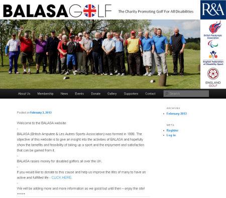 BALASA Golf website