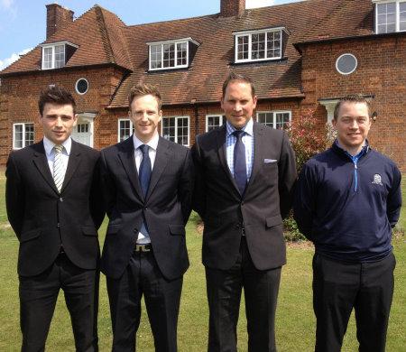 Brocket Hall Membership Team (l-r) Jago Toner, Luke Geoghegan, David Griffin and Tim Hearns