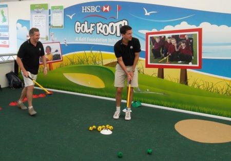 HSBC Ambassadors Jonathan Davies and Tim Henman