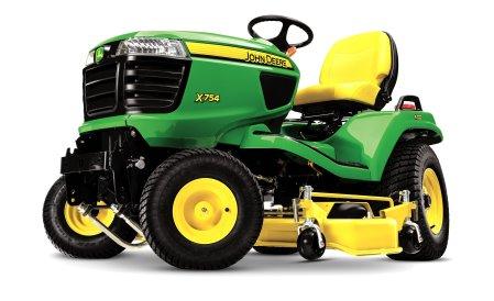 John Deere X754 lawn tractor_studio