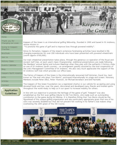 Keepers of The Green website