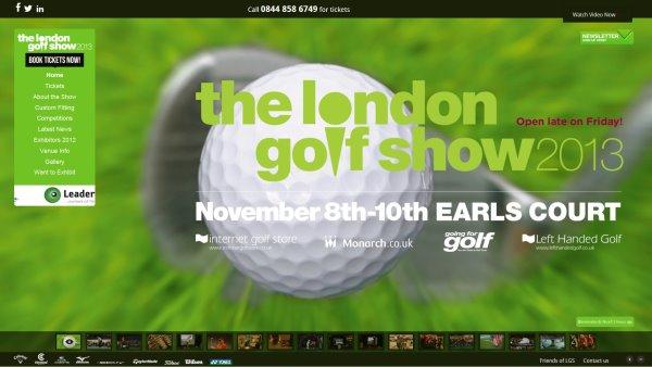 London Golf Show homepage