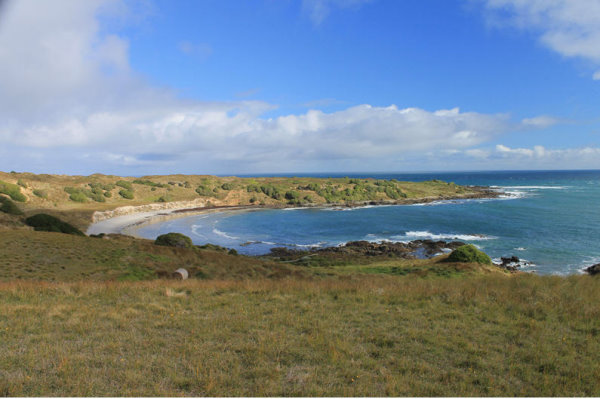 Looking across Victoria Cove toward Cape Farewell