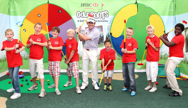 Louis Oosthuizen and Tri-Golf youngsters