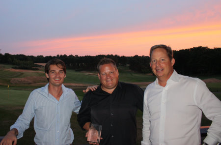 left to right – César Burguiere, Assistant Director Direct of Golf at LUMINE, Calle Carlsson, General Manager LUMINE Golf & Beach Club, Bruce Glasco, Senior Vice-President and Managing Director, Troon International Operations
