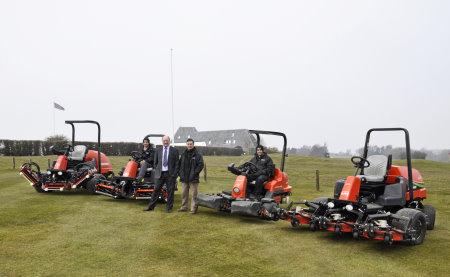 (l-r) David Patrick; Les Trute, General Manager; Robin Greaves, Head greenkeeper;  Stephen Patrick at Marlborough Golf Club
