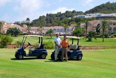Gary Silcock (left) La Manga Club's director of golf