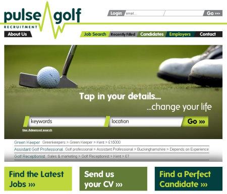 Pulse Golf Website