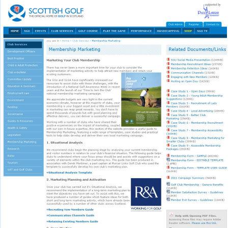 SGU website membership marketing