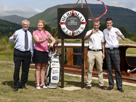 Stephen Carter OBE, Chairman, De Vere Cameron House; Kylie Walker, Ladies European Tour Professional; Ross Whitfield, General Manager, The Carrick on Loch Lomond; and Ewan Grimes, Assistant Golf Operation Manager