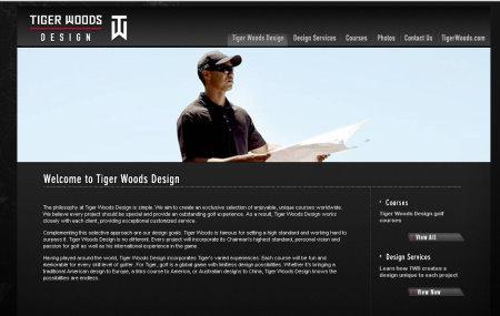 Tiger Woods Design website