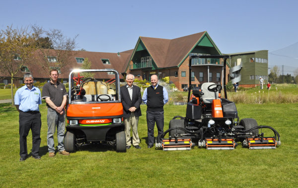 Adrian Kersey, Bartram Mowers, Adrian Hollins, Head greenkeeper, Colin Aldous, owner of Ufford Park and Nigel Church of Ransomes Jacobsen