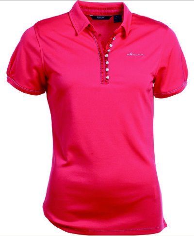 Ladies' Linden Polo  RRP: £69.99; Sizes: XS-XXL; Colours: exotic coral, white, lagoon