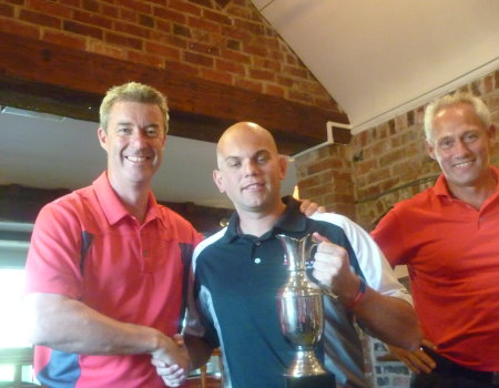 Keith Davies, Captain of the Battle Back team, with Andy Brown and Kevin Hart