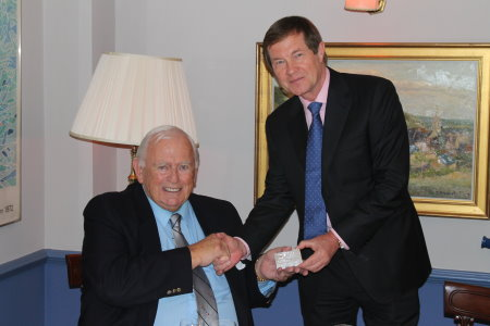 Earlier this year Dave Thomas was awarded Honorary Life Membership of The European Tour by Chief Executive George O'Grady