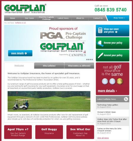 Golfplan webpage