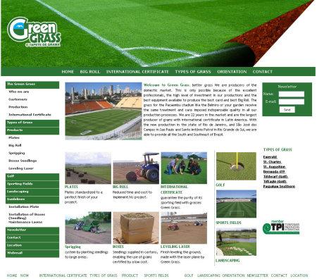 Green Grass website