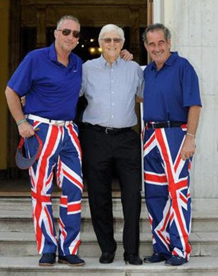 Sir Ian Botham, Sir Michael Parkinson and Sam Torrance