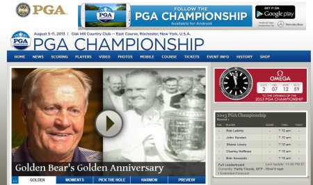 PGA Championship website grab