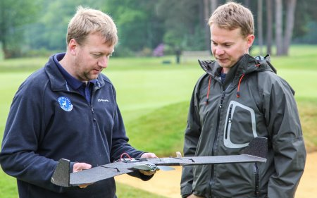 Matthew Nutter (left) with Andrew who flies the drone for PinPoint