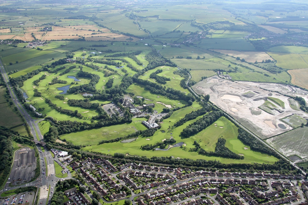 Ramside Hall Hotel and Golf club aerial view