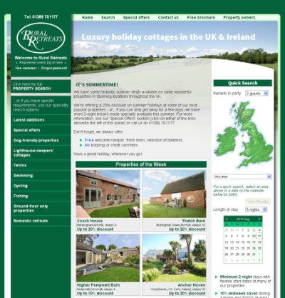 Rural Retreats website