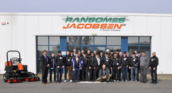 The SGA Norrland group during their visit to Ransomes Jacobsen