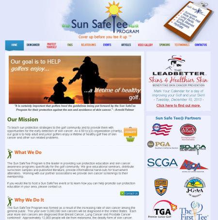Sun Safe Tee website