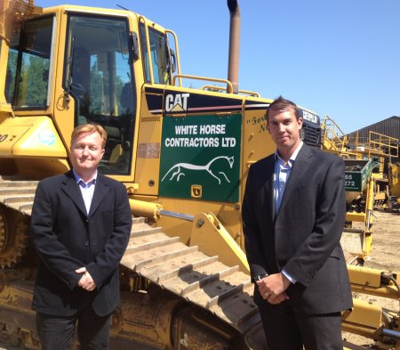 Gary Kneller (lefy), MD at White Horse Contractors with Christopher Bassett, MD at Fusion Media (Europe)