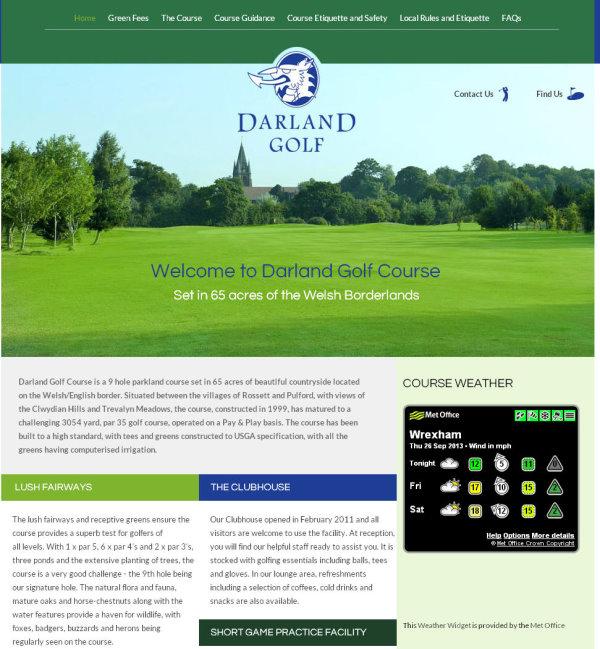 Darland Golf Course website screengrab