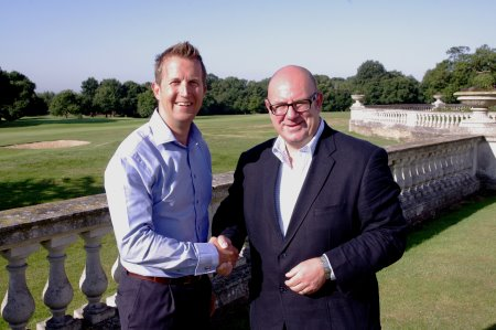 Foremost Company Director, Andy Martin(left) with Golf Monthly Editor Michael Harris