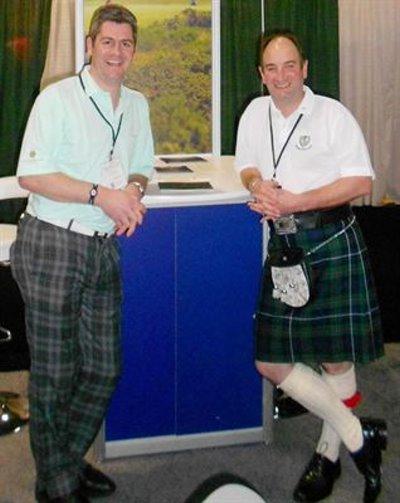 Fraser Cromarty (left) and Neil Hampton