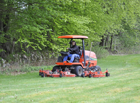 The Club's Jacobsen HR5111 mowing the semi-rough