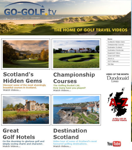 Go-Golf TV website