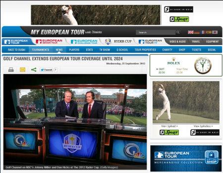 Golf Channel European Tour screengrab