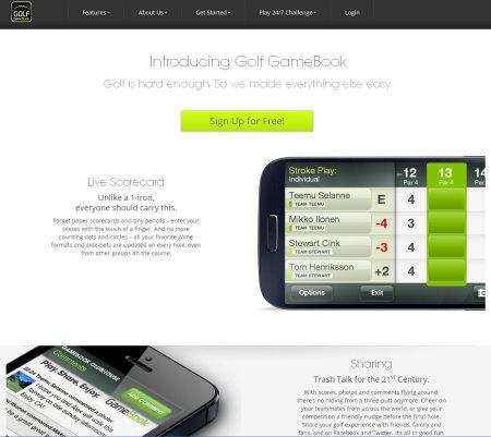 Golf GameBook website