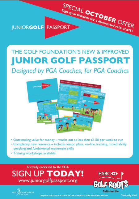 Junior Golf Passport Harrogate Promotion