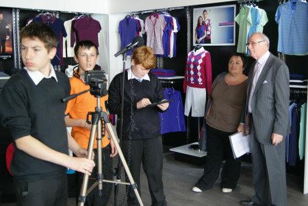 Preparing to film Colin Mee