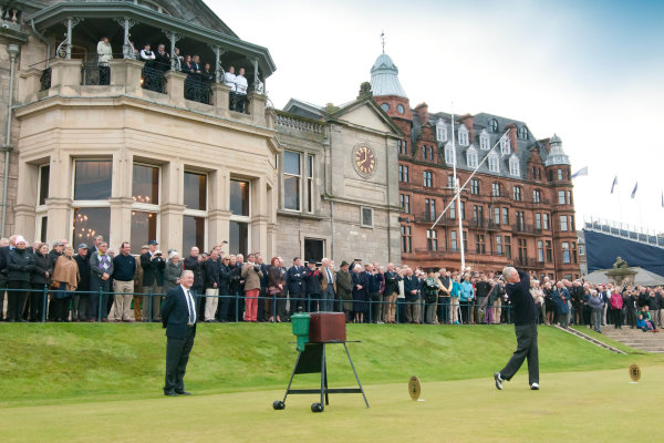 Sandy Dawson, the new Captain of The Royal and Ancient Golf Club, drives into office