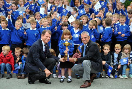 The Ryder Cup on a school visit to Auchterarder
